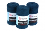 Sznurek 3mm Yarn Art, Macrame Cotton, 789 morski, 225 m