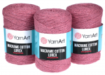 Sznurek 2mm Yarn Art, Macrame Cotton Lurex, 743 brudny róż