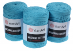 Sznurek 3mm Yarn Art, Macrame Cotton, 763 turkusowy, 225 m