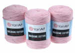 Sznurek 2mm Yarn Art, Macrame Cotton, 762 pastelowy róż, 225 m
