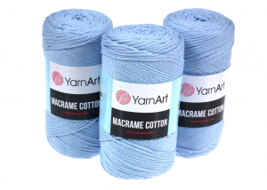 Sznurek 3mm Yarn Art, Macrame Cotton, 760 błękitny, 225 m