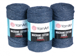 Sznurek 3mm Yarn Art, Macrame Cotton Lurex, 730 grafitowy