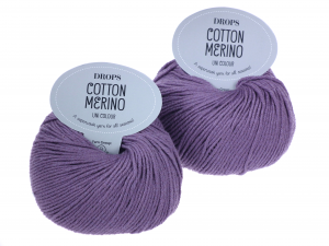 Włóczka DROPS Cotton Merino, 23 lawendowy, 50 g