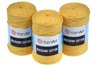 Sznurek 3mm Yarn Art, Macrame Cotton, 764 żółty, 225 m