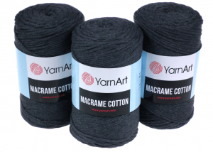 Sznurek 3mm Yarn Art, Macrame Cotton, 758 antracyt, 225 m