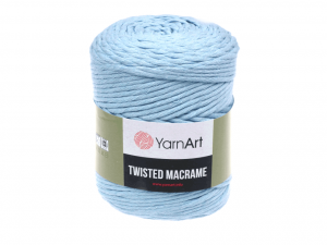 Sznurek 4mm Yarn Art, Twisted Macrame, 760 błękitny, 500 g