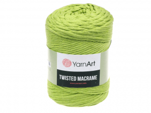 Sznurek 4mm Yarn Art, Twisted Macrame, 755 zielony, 500 g