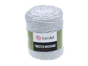 Sznurek 4mm Yarn Art, Twisted Macrame, 756 jasny szary, 500 g