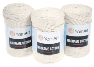 Sznurek 3mm Yarn Art, Macrame Cotton, 752 ecru, 225 m