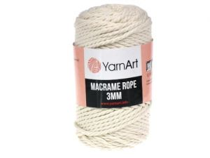 Sznurek 3mm Yarn Art, Macrame Rope, 752 ecru, 63 m