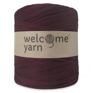 T-shirt yarn, WelcomeYarn, bordowy, 120m