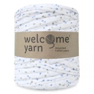T-shirt yarn, WelcomeYarn, kwiatki, 120m