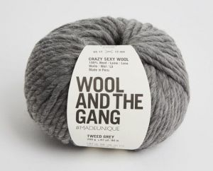 Wool And The Gang, Crazy Sexy Wool, Tweed Grey