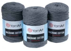 Sznurek 2mm Yarn Art, Macrame Cotton, 774 szary, 225 m