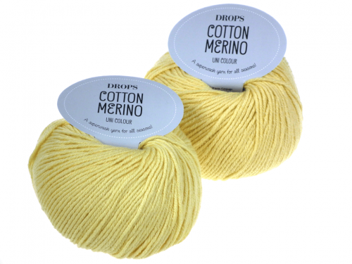 Włóczka DROPS Cotton Merino, kolor 17 wanilia