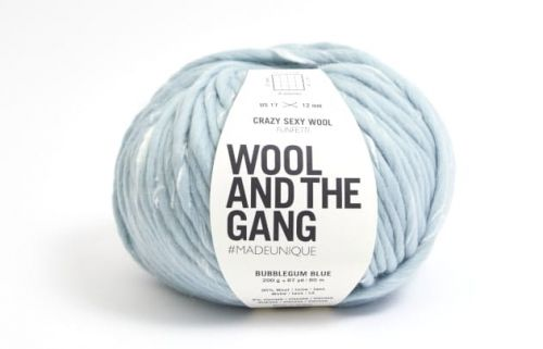 wloczka-Wool And The Gang - Crazy Sexy Wool - Funfetti- Bubblegum Blue