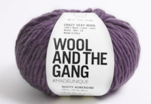 Wool and the Gang -wloczka-Crazy Sexy Wool -kolor-Dusty Aubergine